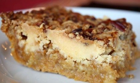 Pumpkin Crunch #Cake ingredients: 1 box yellow cake mix 1 can (15 oz) pumpkin puree 1 can (12 oz) evaporated milk 3 large eggs 1 1/2 cups sugar 1 tsp. cinnamon 1/2 tsp. salt 1 1/2 cups chopped pecans (the original recipe called for 1/2 cup) 1 cup butter, melted Heat oven to 350 degrees F. Grease bottom of 9 x 13.