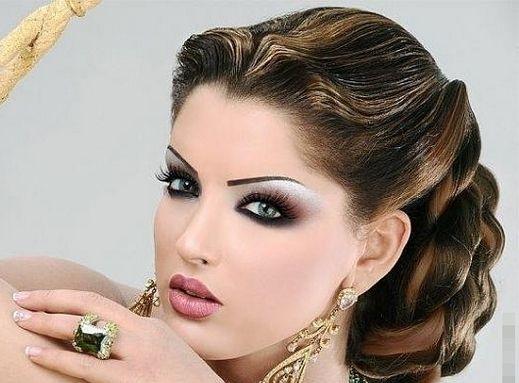 Elegant Wedding Hair And Makeup : Elegant Bridal Make up Arabic Makeup Pinterest