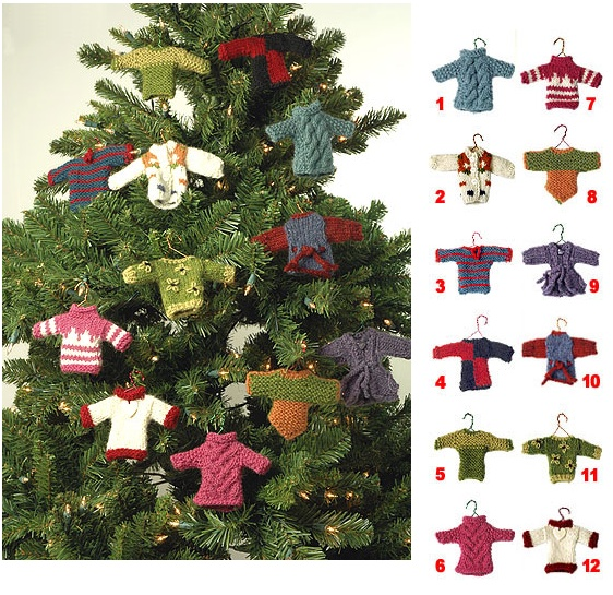 mini sweater christmas tree ornaments | Products I Love | Pinterest