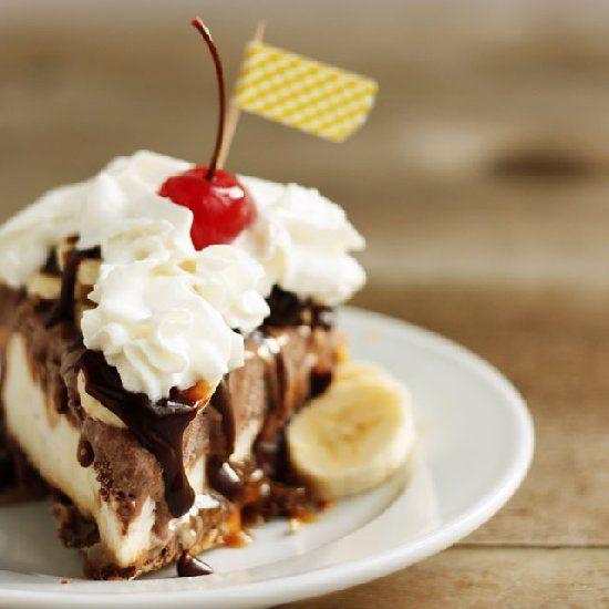 Pretzel-Crusted Banana Split Ice Cream Pie Recipe - PositiveFoodie