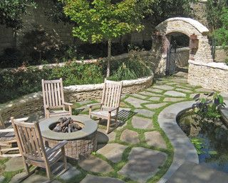 Loose Stone Patio Garden Paths Patios And Walkways