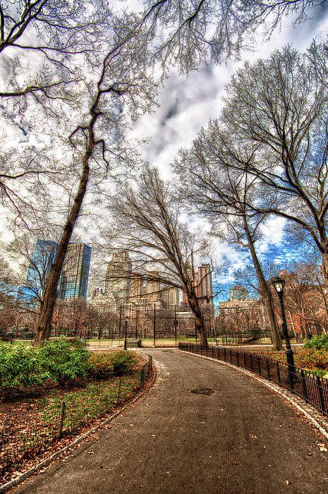 NYC. Path through Central Park
