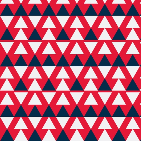 red white blue triangle flag