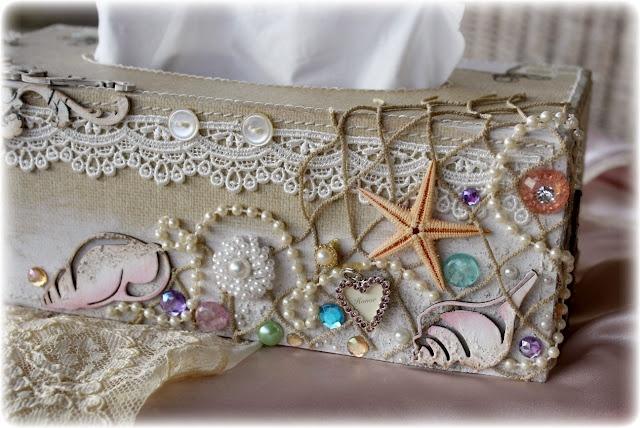 Pinterest - Beach themed tissue box cover ...