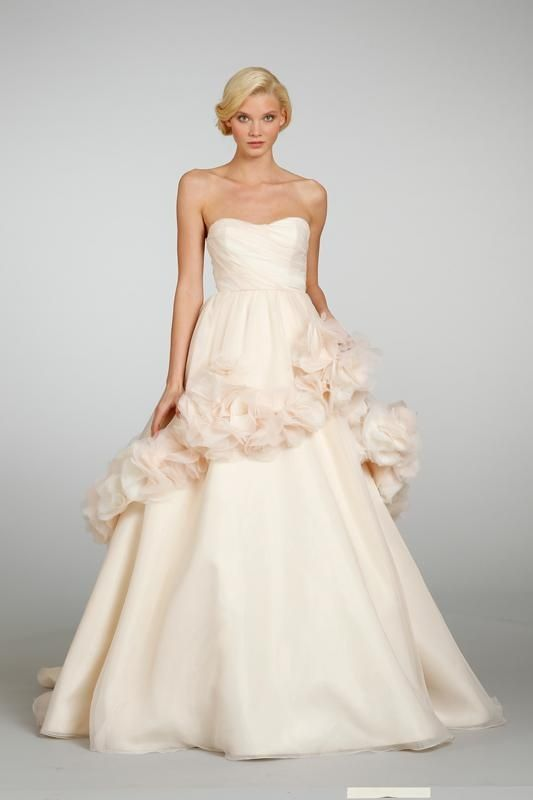 Hayley Paige wedding dress Blush pink wedding dress