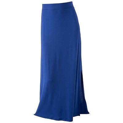 apt 9 solid pull on maxi skirt skirts
