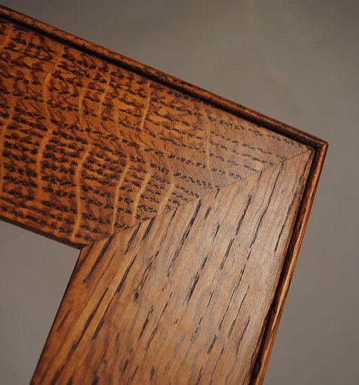 Arts Crafts Quarter Sawn Frame Detail Craftsman Style