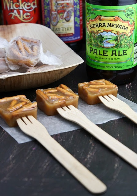 Caramels with salty pretzels and flavored with....yep....BEER. This ...