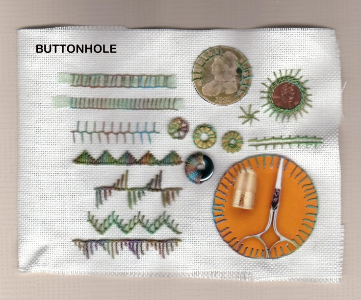 buttonhole stitch | Embroidery | Pinterest