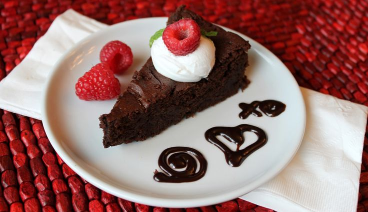 Fudgy Flourless Dark Chocolate Torte