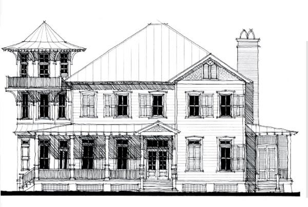 Historic Victorian House Plan 73837