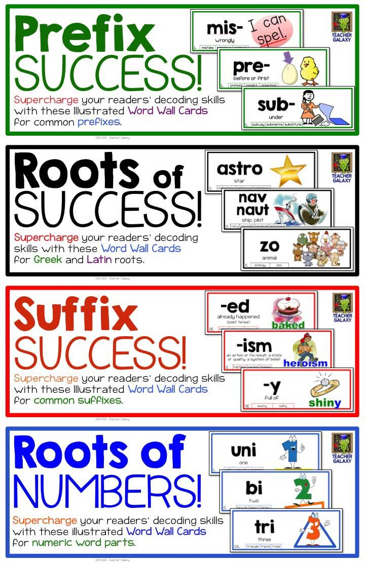 Roots of Success - Word Wall of Roots and Affixes - Common ...