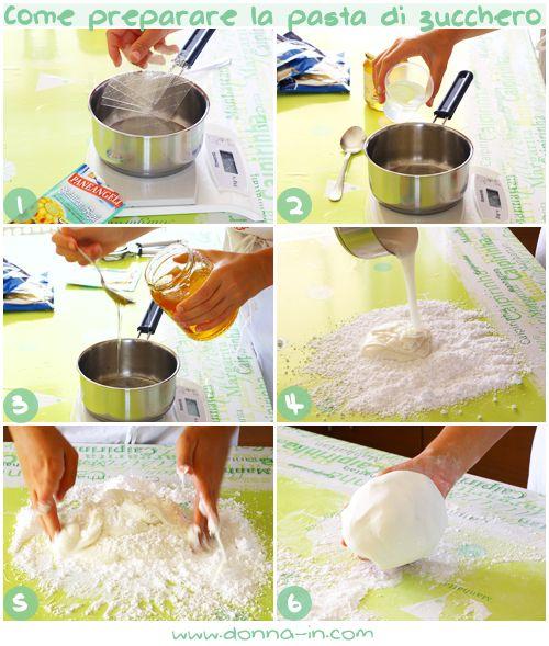 come preparare la pasta di zucchero