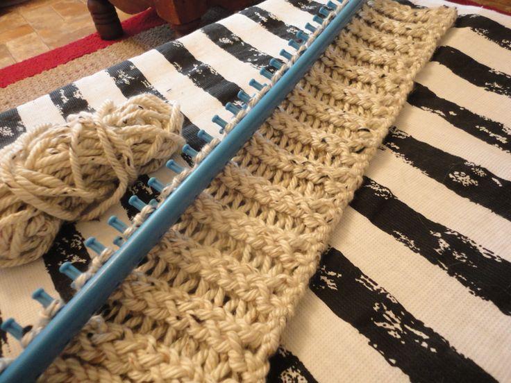 Loom Knitting Blankets : Loom knitting a blanket sewing pinterest