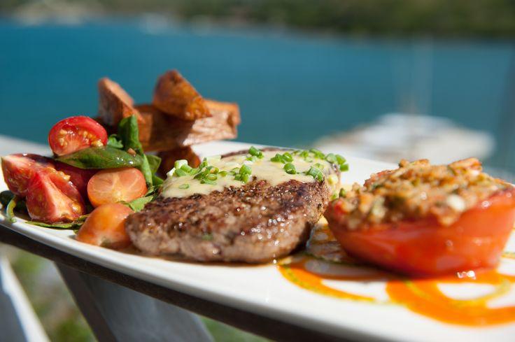 Strip Loin Steak with tomato and avocado salsa #nonsuchbay #antigua