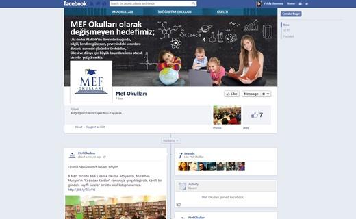 Mef okulları facebook sayfa yönetimi