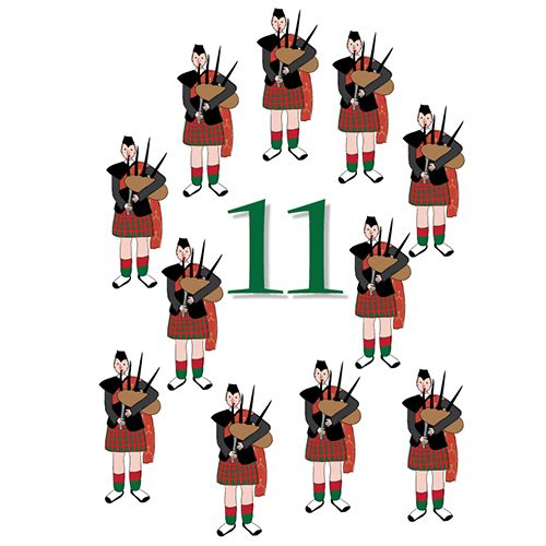 12 days of Christmas pipers piping | 5th Grade Winter ...