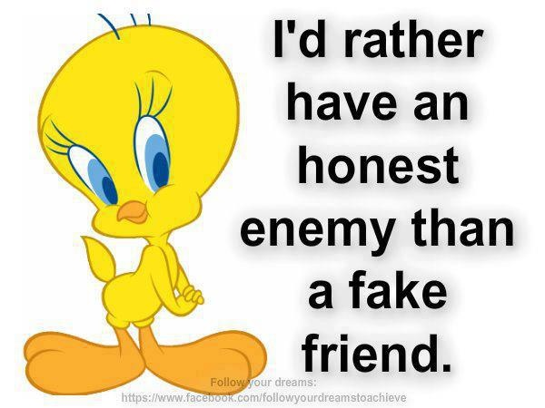 Funny Quotes About Fake Friends : Tweety bird randomly fun