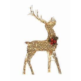 ... 250-Light Golden Scroll Reindeer | Great Hill Christmas | Pintere