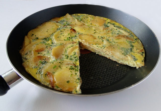 Potato Frittata - bet it would work with sweet potatoes too