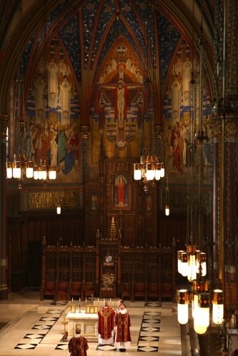 Cathedral of the Madeleine is a Roman Catholic church in Salt Lake City, Utah, United States. How can you not prostrate yourself in front of that altar?