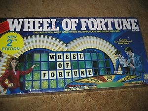 wheel of fortune board game pieces