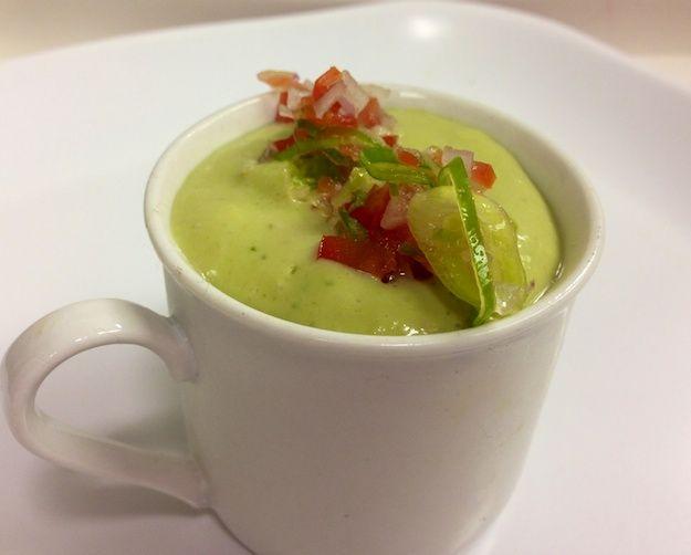 Chilled Avocado Cucumber Soup | Avocado Aficionado | Pinterest