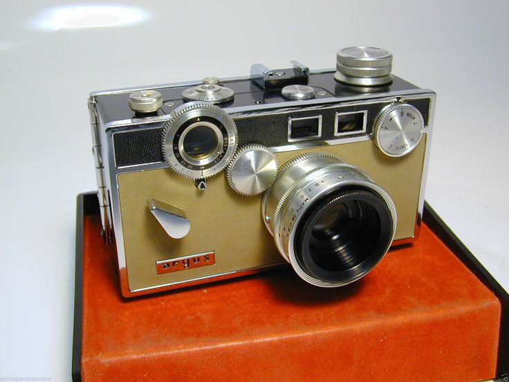 vintage argus c3 matchmatic 35mm rangefinder camera with flashgun te. Black Bedroom Furniture Sets. Home Design Ideas
