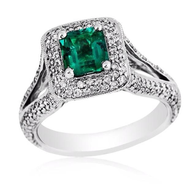 25th Wedding Anniversary Ring Ideas : Love this emerald ring 25th Wedding Anniversary Ideas Pinterest