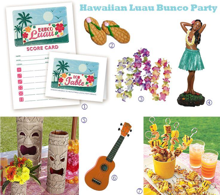 hawaiian luau birthday party games