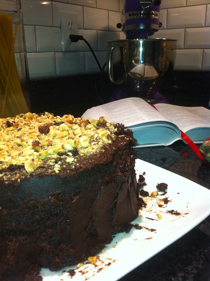 Devil's Food Cake With Hazelnut Crunch Recipe — Dishmaps