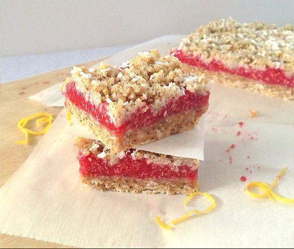 Raw Raspberry Streusel Bars! | Recipes | Pinterest