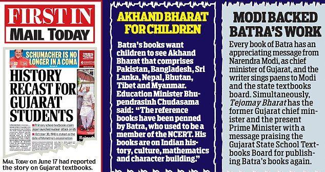 Hindu ideology being taught to Gujarat school children