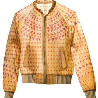 "Bio bomber jacket.   Designer Suzanne Lee grows her own ""vegetable leather"". It's amazing!  The material is biodegradable and after five years, becomes unwearable, hardening and rotting. And you can compost it down with all your other vegetable peelings.  Talking about recycling fashion!"