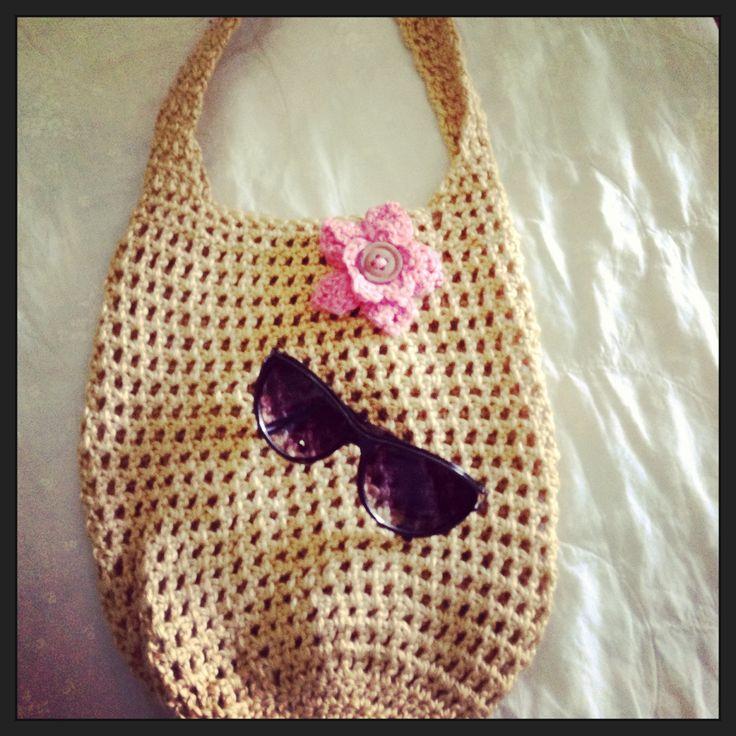 Crochet Summer Bag : Crochet summer bag Knitting & Crochet needle crafts Pinterest