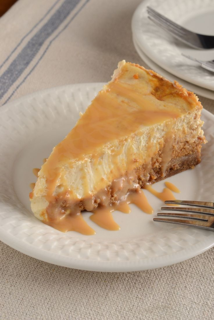 Pumpkin Swirl Cheesecake with Salted Caramel Sauce from JoshuaTrent ...