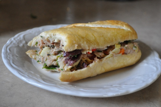 Pan Bagnat with Tuna | Sandwiches & Wraps | Pinterest