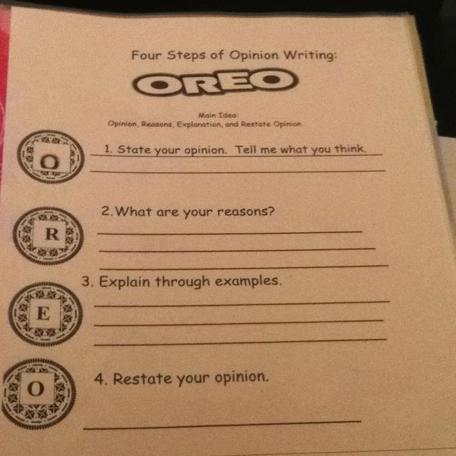 Oreo Writing Lesson http://www.pinterest.com/pin/131167407868804733/