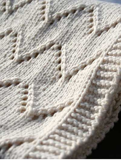 Easy Lace Baby Blanket Knitting Pattern : easy-to-knit lace blanket Holy Knit Pinterest