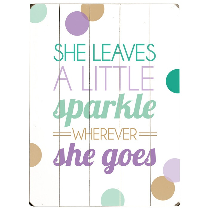 She leaves a little sparkle wall décor