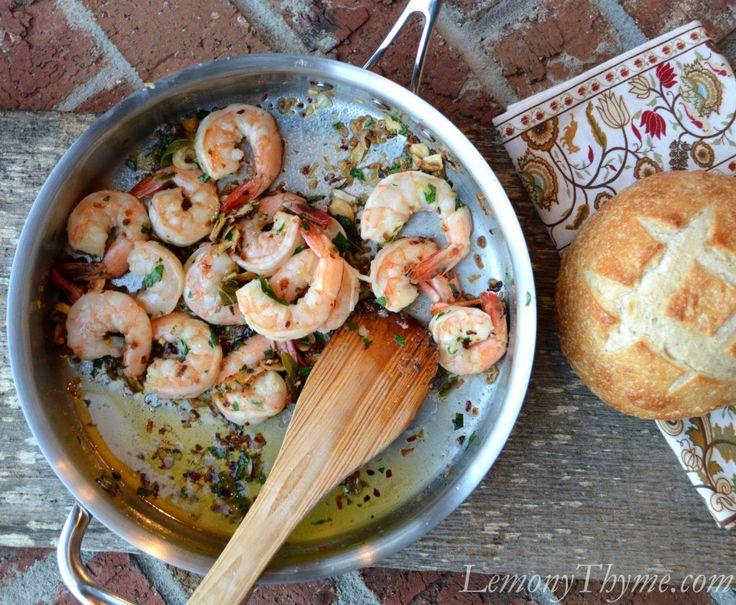 Sage Brown Butter Shrimp Scampi | Seafood Delights | Pinterest