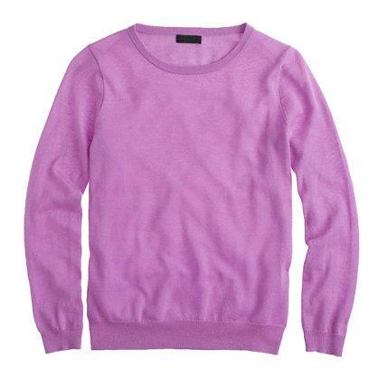 J.Crew cashmere long-sleeve tee #coloroftheyear #pantone #radiantorchid