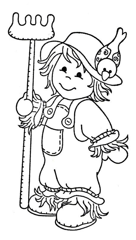 scarecrow coloring pages autumn - photo#31
