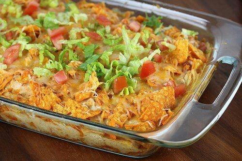 Doritoes Chicken Casserole. | Chicken only Recipes | Pinterest