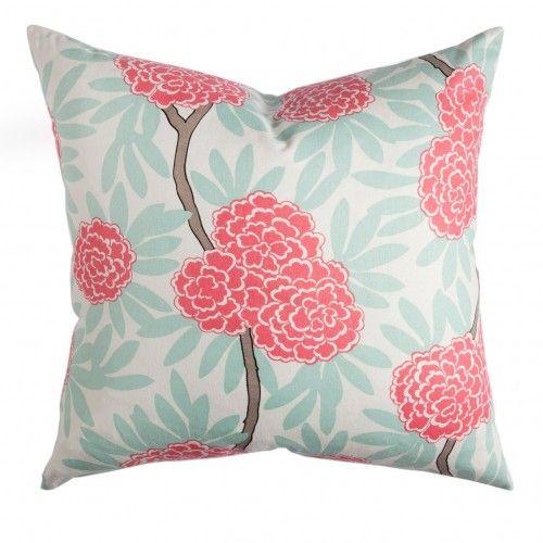 Caitlin Wilson Textiles: Mint Fleur Chinoise Pillow