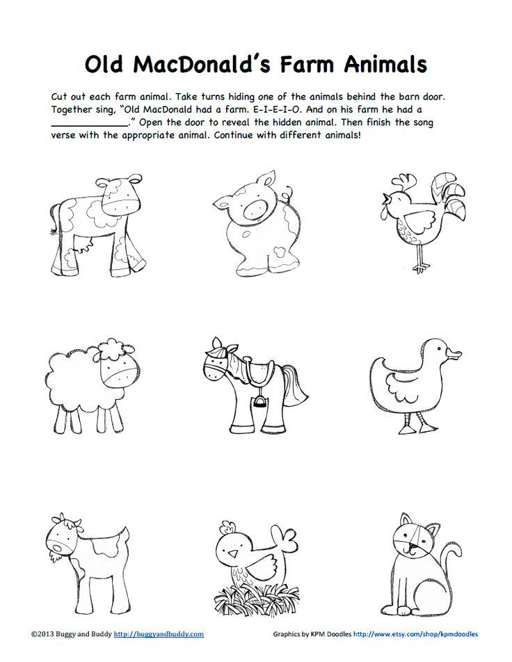 Animal Colouring Pages Sparklebox : Farm animals b w pdf google drive science