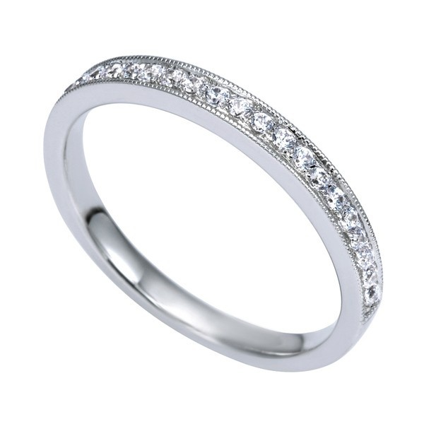 Genesis Designs WB8018W44JJ Wedding Ring 14K white gold victorian ...