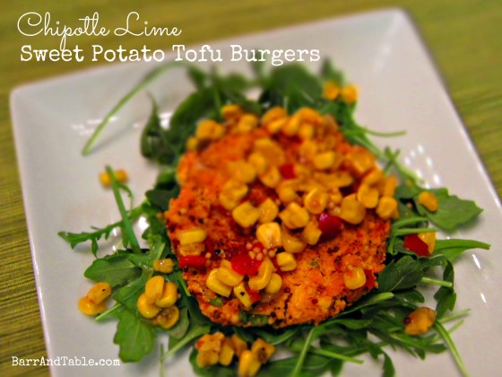 Barr & Table Chipotle Lime Sweet Potato Tofu Burger