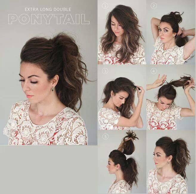 Extra Long Double Ponytail Step-By-Step Hairstyles! Pinterest