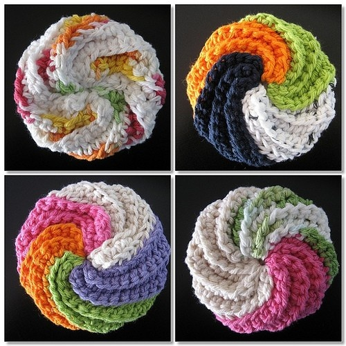 Crochet Patterns For Kitchen Scrubby : Crochet scrubbies Crocheted scrubbies Pinterest